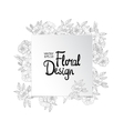 Floral border made with sketchy flowers vector image
