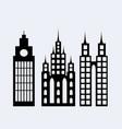 a set design city elements vector image vector image