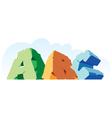 alphabet made stone single word abc vector image