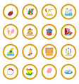 amusement park cartoon icon circle vector image vector image