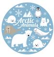 Arctic Animals Label vector image