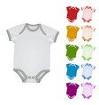 baby bodysuit blank template vector image vector image