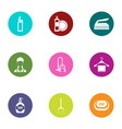 barrel icons set flat style vector image vector image
