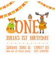 birthday invitation card template celebration vector image