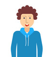 boy teenager in hoodie icon flat isolated vector image vector image