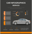 business infographic with car car auto service