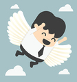 businessman flying freedom vector image vector image