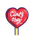 candy shop hand drawn cartoon vector image vector image