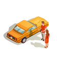 car kit isometric composition vector image vector image