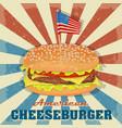 cheesburger icon classic burger cheeseburger vector image vector image