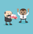 chief businessman valuable gift to a diligent vector image vector image