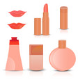 creative cosmetics and makeup icons vector image vector image