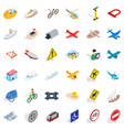 different transport icons set isometric style vector image vector image