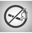 Do not smoking icon vector image vector image