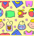 doodle of various element baby vector image vector image