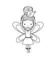 dotted shape girl dancing ballet with crown and vector image vector image