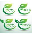 eco logo vector image vector image