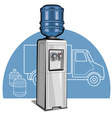 electric water cooler vector image