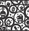 endless wallpaper with cute monsters robots and vector image vector image