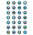 European buttons vector image vector image