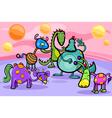fantasy creatures group cartoon vector image vector image
