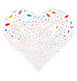 feather fireworks heart vector image vector image