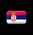 flag of serbia matted icon and button vector image vector image
