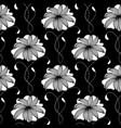 floral seamless pattern black background vector image vector image