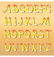 font cheerful sunny vector image vector image