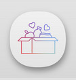 food donations app icon charity collection vector image