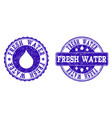 fresh water grunge stamp seals vector image vector image