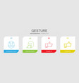 gesture icons vector image vector image