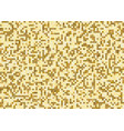 gold square pixel mosaic pattern background and vector image