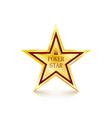 golden star on white background poker concept vector image vector image