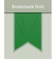 Green bookmark decoration ribbon vector image vector image
