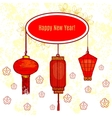 greeting card with chinese traditional vector image vector image
