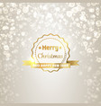 greeting new year template vector image