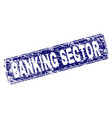 grunge banking sector framed rounded rectangle vector image vector image