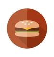 hamburger flat icon vector image vector image