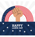 hand symbol to labor day celebration vector image vector image