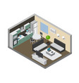 home interior with consumer electronics vector image