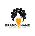 hot lamp repair logo vector image vector image