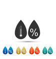 humidity icon isolated on white background vector image vector image