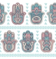 indian hand drawn hamsa seamless pattern vector image vector image