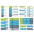 infographic elements with numbers vector image vector image