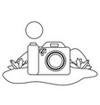 isolated digital camera design vector image vector image