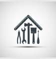 logo building hand tools like a house vector image vector image