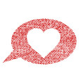 love message balloon fabric textured icon vector image vector image