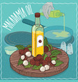 macadamia oil used for frying food vector image vector image