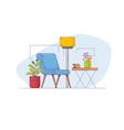 minimalist interior line style vector image